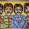 My original design latch-hook rug of The Beatles.